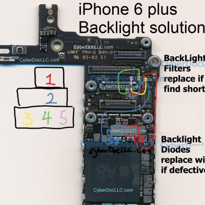 iPhone 6 plus backlight solution! site